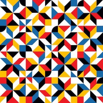 Motif de mosaïque de formes répétitives abstraites