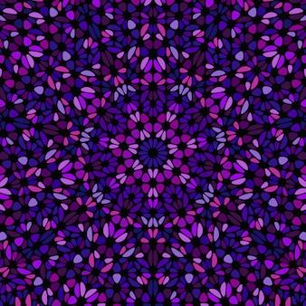 Motif de mosaïque géométrique abstrait fleur colorée