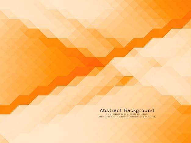 Motif de mosaïque triangulaire vecteur de fond de couleur orange jaune géométrique