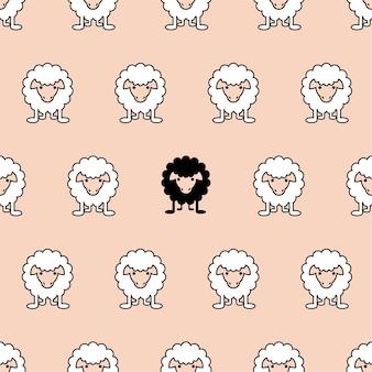 Motif de moutons