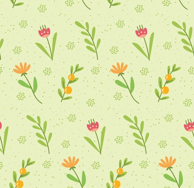 Motif nature avec jolie fleur