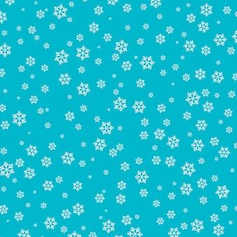 Motif de neige. flocons de neige blancs sur fond bleu.