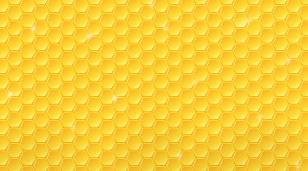 Motif en nid d'abeille. fond de ruche géométrique.