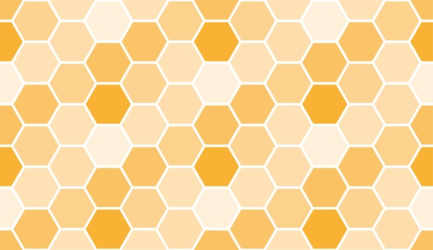 Motif en nid d'abeille sans soudure, modèle de fond d'art. texture de miel de vecteur