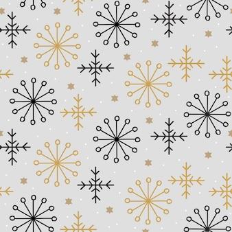 Motif de noël tendance avec flocon de neige abstrait