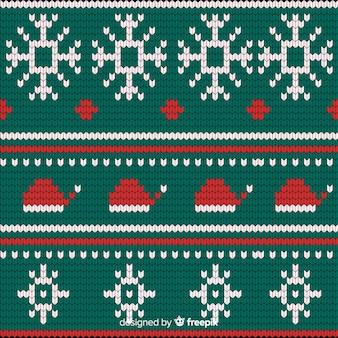 Motif de noël tricoté festif