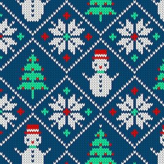 Motif de noël tricoté