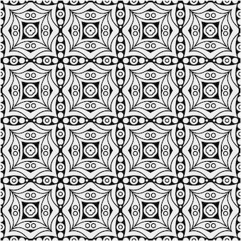 Motif noir et blanc de luxe