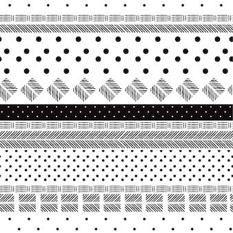 Motif noir et blanc monotone