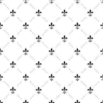 Motif noir et blanc sans couture avec des couronnes de roi