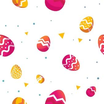 Motif d'oeufs décoratifs de pâques sans soudure.
