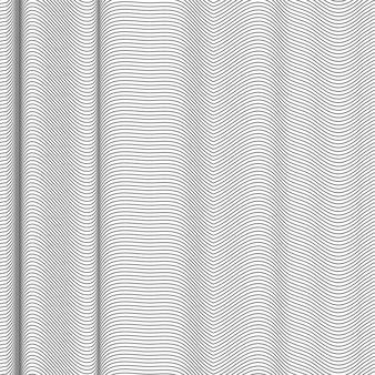 Motif ondulé abstrait noir et blanc. vagues