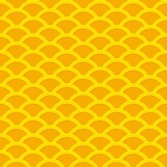 Motif ondulé sans couture de pièces d'or.