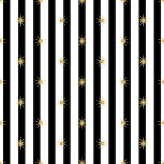 Motif en or brillant d'or brillant sur fond noir