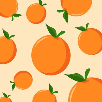 Motif orange backgroud médias sociaux post fruit illustration vectorielle