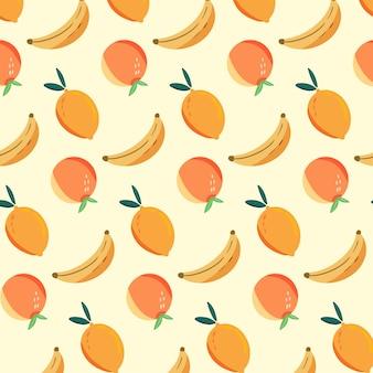 Motif orange banane citron