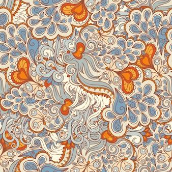 Motif orange et bleu