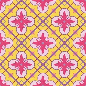 Motif oriental arabesque géométrique sans soudure.