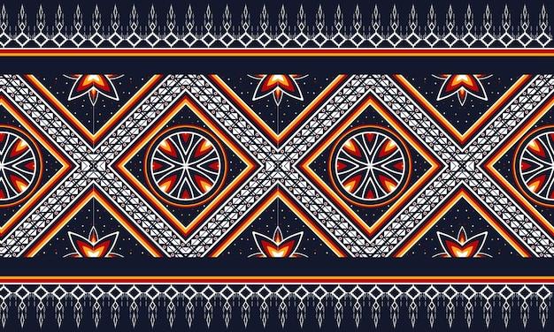 Motif oriental ethnique géométrique conception traditionnelle pour l'arrière-plan, tapis, papier peint, vêtements, emballage, batik, tissu, illustration vectorielle. style de broderie.
