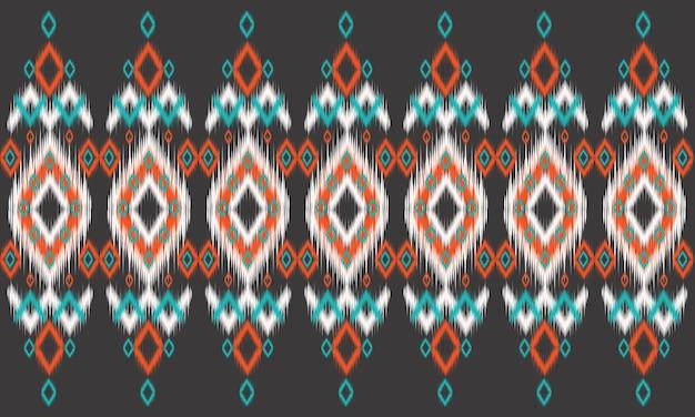 Motif oriental ethnique géométrique design traditionnel pour l'arrière-plan, tapis, papier peint, vêtements, emballage, batik, tissu, illustration vectorielle. style de broderie.