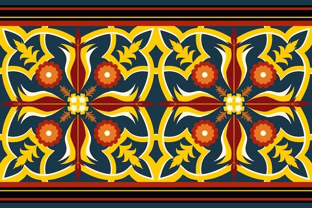 Motif oriental et traditionnel ethniques ethniques géométriques sans couture pour la texture et le bachground