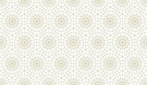 Motif original sans couture dans un style arabe authentique. illustration vectorielle