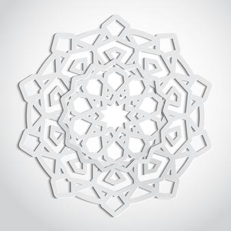 Motif d'ornement arabesque dans le style de découpe