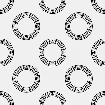 Motif ornement circulaire grecque