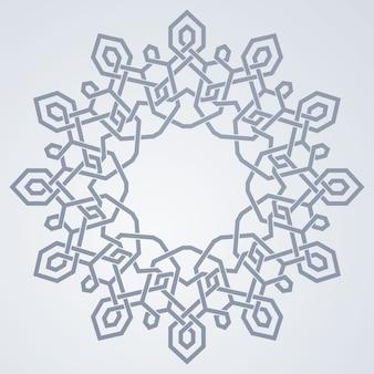 Motif d'ornement géométrique arabe