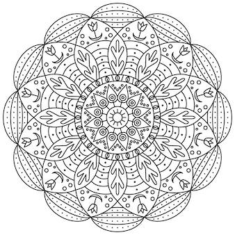 Motif d'ornement rond mandala
