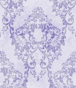 Motif ornement violet damassé