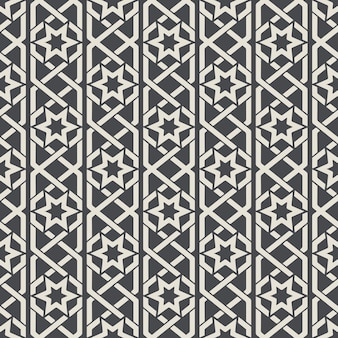 Motif ornemental abstrait sans soudure dans un style arabe. fond sans couture, motif arabe, motif textile de décoration. illustration vectorielle