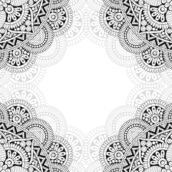Motif ornemental noir et blanc.