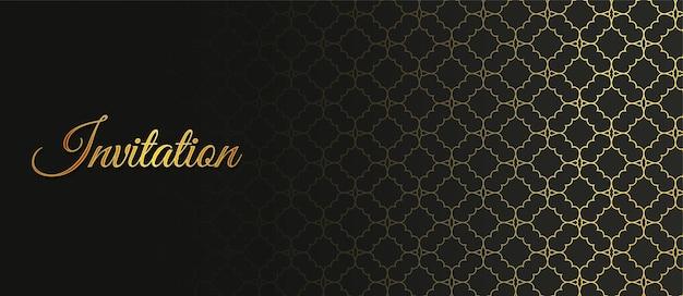 Motif ornemental de style de fond d'invitation de luxe