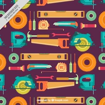 Motif d'outils en design plat
