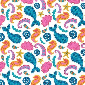 Motif paisley coloré abstrait