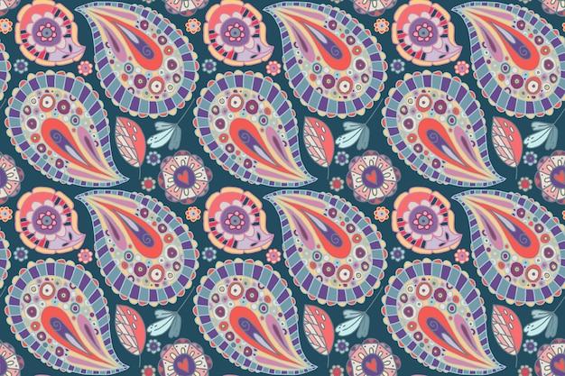 Motif paisley coloré