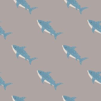Motif pal minimaliste avec ornement de requins bleus.