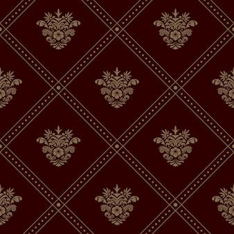 Motif de papier peint sans soudure royal. fond de vecteur avec des éléments floraux