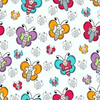 Motif papillon doodle