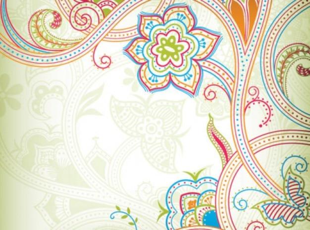Motif de papillon avec des lignes colorées