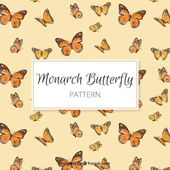 Motif papillon monarque