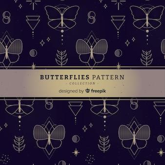 Motif papillon plat