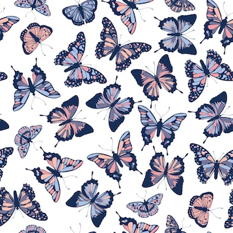 Motif de papillons.
