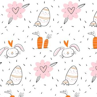 Motif de pâques dessiné à la main