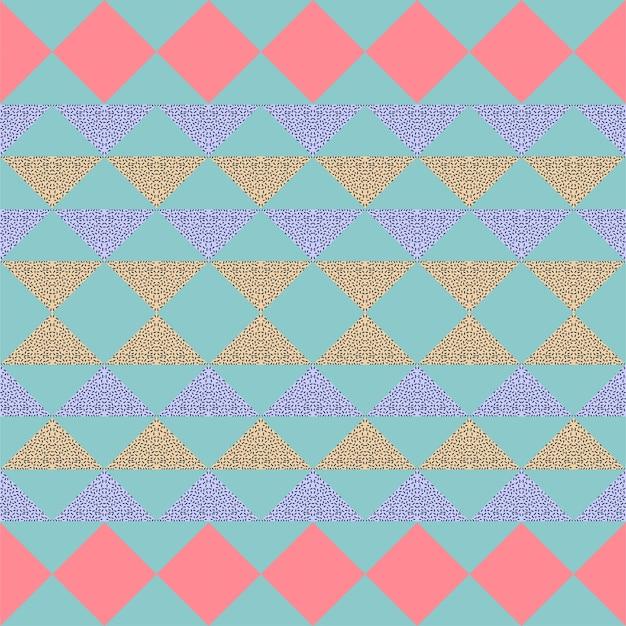 Motif pastel géométrique abstrait triangle sans soudure