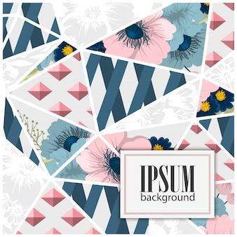 Motif patchwork floral sans couture avec éléments géométriques