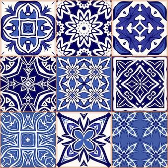 Motif de patchwork sans couture dessiné à la main