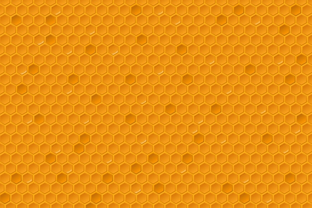 Motif de peignes de miel. texture en nid d'abeille, cellule de grille de peigne hexagonal géométrique en cire d'abeille.