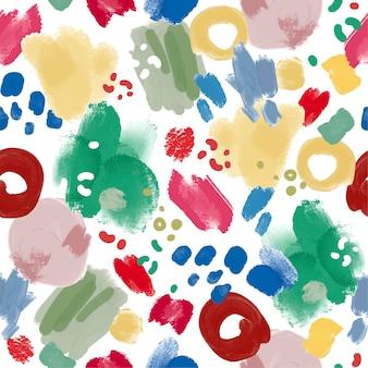 Motif de peinture abstraite peint à la main
